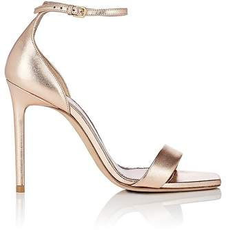 Saint Laurent Women's Amber Metallic Leather Sandals
