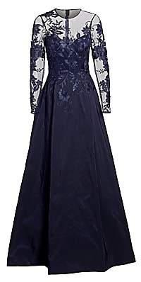 Teri Jon by Rickie Freeman Women's Illusion Ball Gown