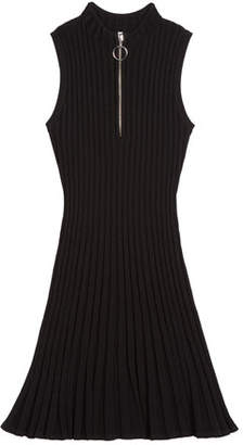 Milly Zipped Flare Dress, Size 7-16