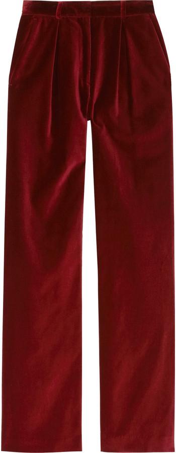 Steven Alan Francis wide-leg velvet pants