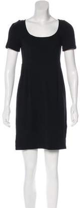 Diane von Furstenberg Short Sleeve Knee-Length Dress w/ Tags Black Short Sleeve Knee-Length Dress w/ Tags