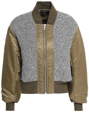 Rag & Bone Woven-Paneled Cotton-Shell Bomber Jacket