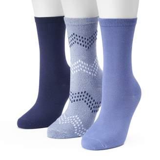 Sonoma Goods For Life Women's SONOMA Goods for Life 3-pk. Chevron Marled Crew Socks