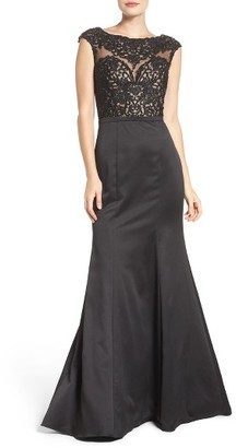 Women's La Femme Embellished Mermaid Gown $489 thestylecure.com