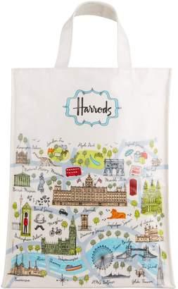 Harrods Medium London Map Shopper Bag