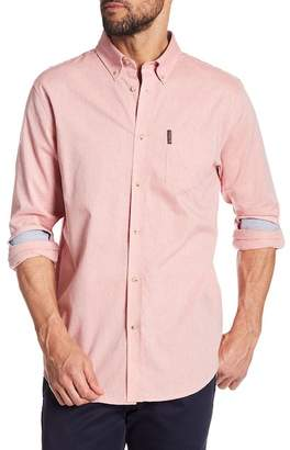Ben Sherman Long Sleeve Chambray Regular Fit Shirt