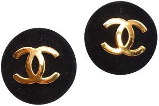 13e38f5d9 Chanel Vintage CC Black Metal Earrings