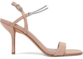 Diane von Furstenberg Frankie Embellished Leather Sandals - Blush