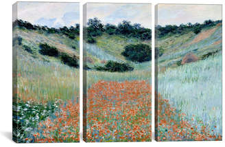 "iCanvas Poppy Field in a Hollow Near Giverny by Claude Monet Gallery-Wrapped Canvas Print - 40"" x 60"" x 1.5"""