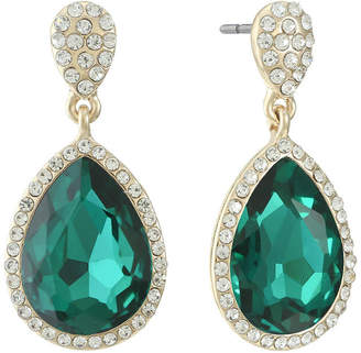 Monet Jewelry Green Drop Earrings