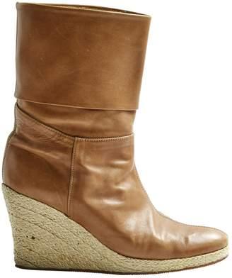 Paul & Joe Camel Leather Ankle boots