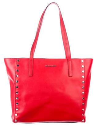 Michael Kors Leather Zip Tote silver Leather Zip Tote