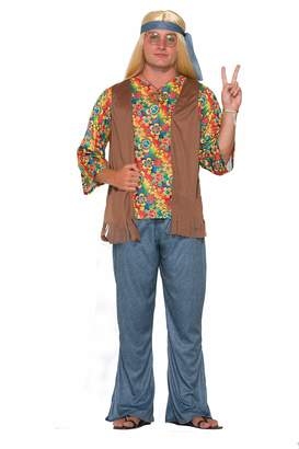 Forum Adults Mens 60s 70s Groovy Peace Flower Power Hippie Costume