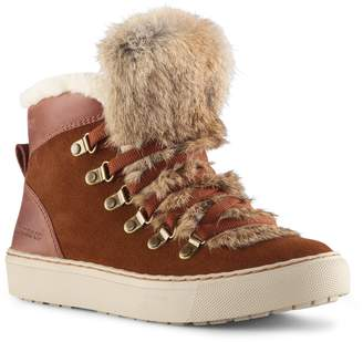 7863e9e21e78 Cougar Dani High Top Sneaker with Genuine Rabbit Fur Trim