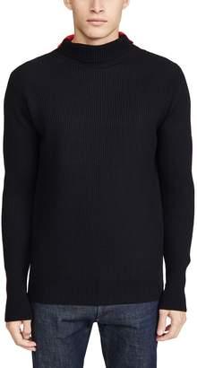 Barena Venezia Cimado Paneled Turtleneck Sweater
