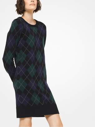 Michael Kors Argyle Cashmere Dress
