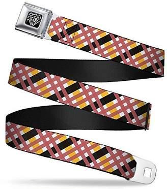 Buckle-Down Unisex-Adults Seatbelt Belt Plaid Regular