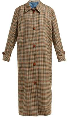 Giuliva Heritage Collection - Maria Checked Virgin Wool Coat - Womens - Grey Multi