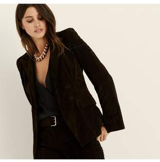 Amanda Wakeley Cocoa Fitted Suede Jacket