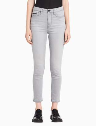Calvin Klein skinny high rise grey ankle jeans