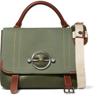 J.W.Anderson Disc Lace-up Leather And Canvas Shoulder Bag