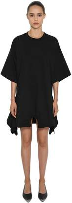 MM6 MAISON MARGIELA Asymmetric Hem Cotton Jersey Mini Dress