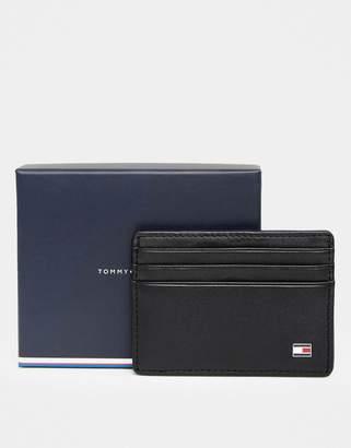 Tommy Hilfiger Eton Leather Cardholder In Black