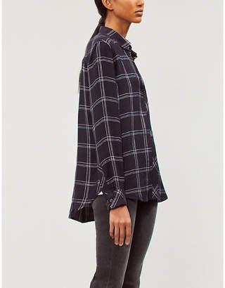 Rails Hunter metallic checked flannel shirt