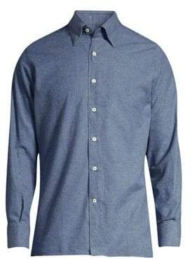 Canali Contemporary-Fit Solid Sport Shirt