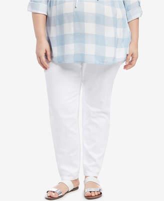Motherhood Maternity Plus Size White Wash Jeans