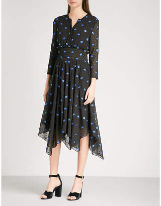 Maje Raiette polka-dot chiffon dress