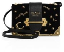 Prada Small Velvet Astrology Cahier Bag $2,090 thestylecure.com