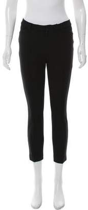 J Brand Skinny-Leg Mid-Rise Tailored Pants