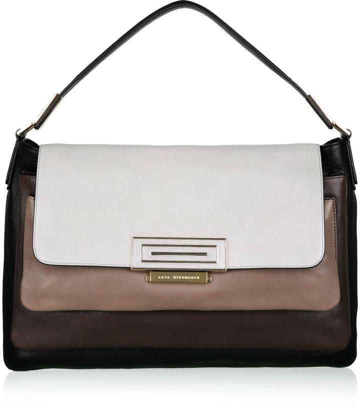 Anya Hindmarch Grey Tri Colour Shoulder Bag