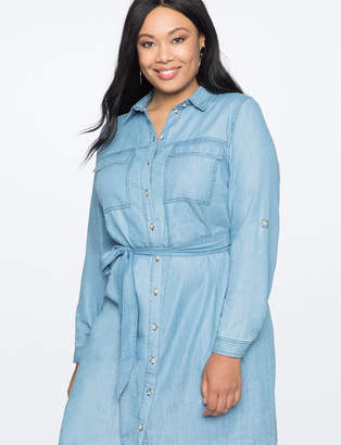 Chambray Shirtdress with Belt