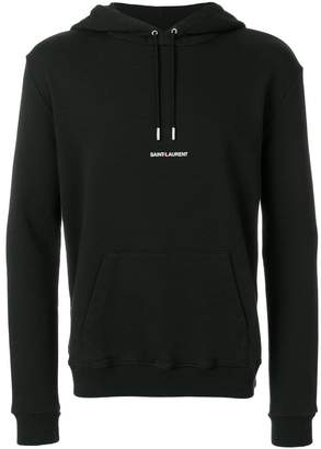 Saint Laurent signature cropped hoodie
