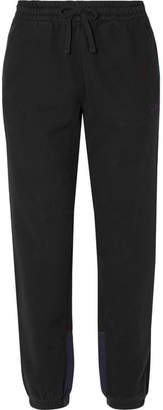 Kith - Cleo Flannel-trimmed Cotton-jersey Track Pants - Black