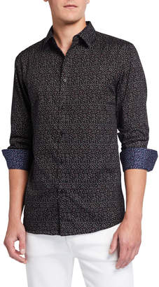 English Laundry Men's Long-Sleeve Woven Shirt