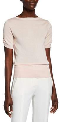 Max Mara Osteo Short-Sleeve Sweater