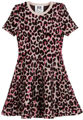 Milly Minis Textured Cheetah Fit-and-Flare Dress, Size 4-7