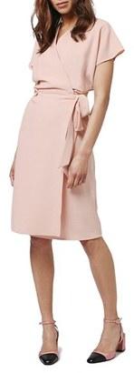 Topshop Crepe Wrap Dress $80 thestylecure.com