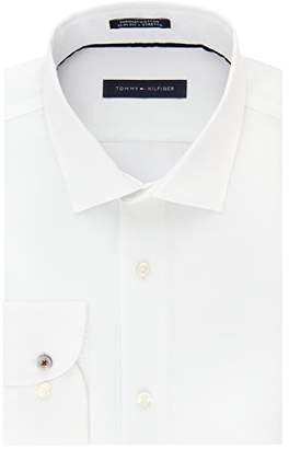 Tommy Hilfiger Men's Dress Shirt Stretch Slim Fit Solid