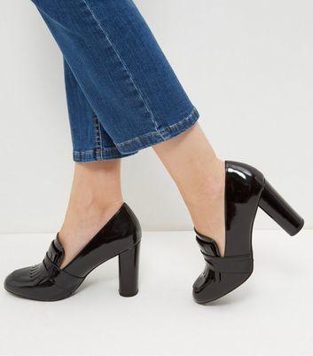 Black Patent Block Heel Shoes - ShopStyle Australia