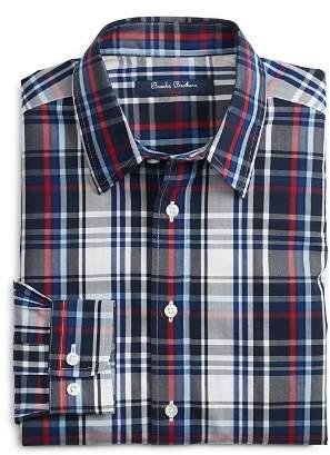 Brooks Brothers Boys' Non-Iron Dalton Plaid Sport Shirt - Little Kid, Big Kid