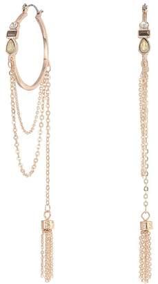 GUESS Hoop with Drape Chain and Tassel Earrings Earring