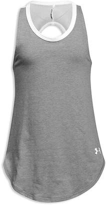Under Armour Girls' Back-Cutout Finale Tank - Big Kid