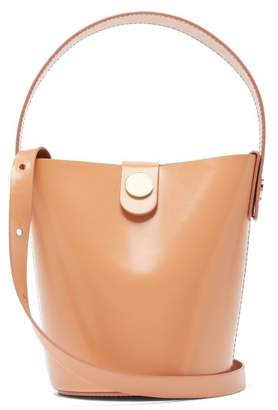 Sophie Hulme Nano Swing Leather Bucket Bag - Womens - Nude