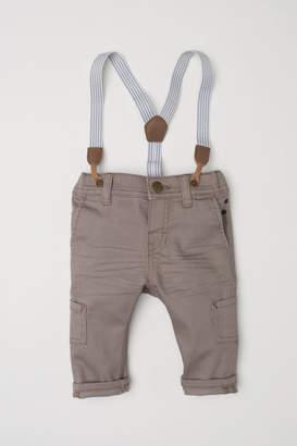 H&M Pants with Suspenders - Brown