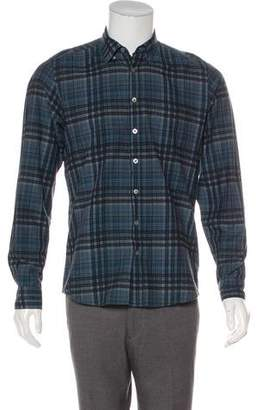 Burberry Checked Button-Up Shirt