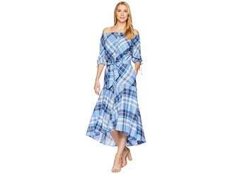Lauren Ralph Lauren Plaid Off the Shoulder Dress Women's Dress